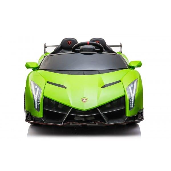 Licenced Lamborghini Veneno 24v* 4wd 2 Seater Kids Electric Car Green