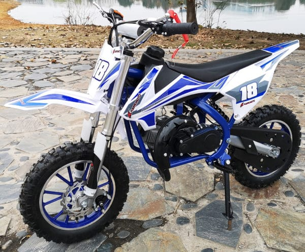 Hawkmoto Strike V2 50cc Kids Mini Dirt Bike Blue