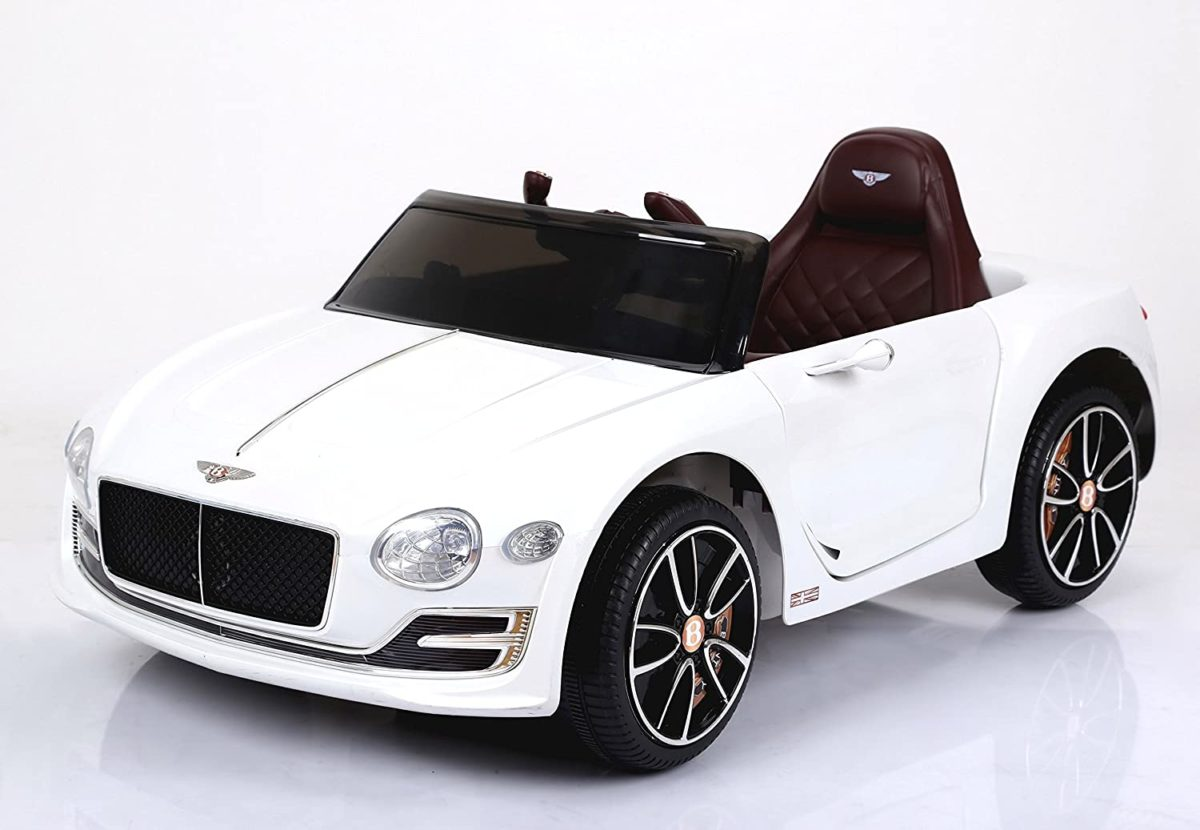 Licensed Bentley Exp12 12v Ride-on Children's Battery Operated Electric Car – White