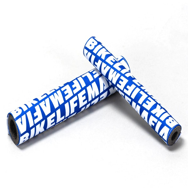 Bikelifemafia Pads Set Blue/white Bmx Pads