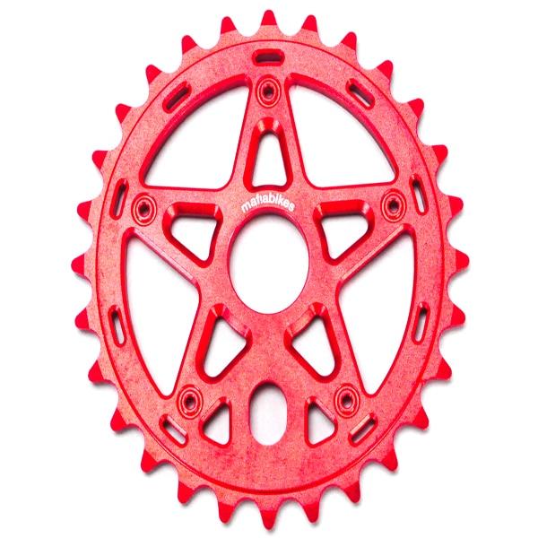 Gully Sprocket Red 28t Bmx Bike Sprocket