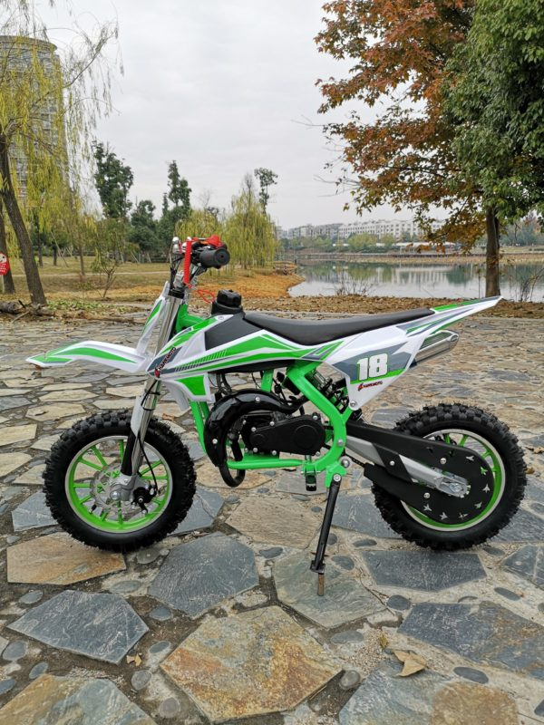Hawkmoto Strike V2 50cc Kids Mini Dirt Bike Green