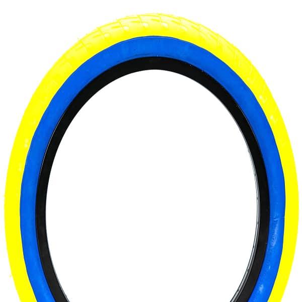 Lc 20 Yellow/bluewall Mafia Bmx Tyres