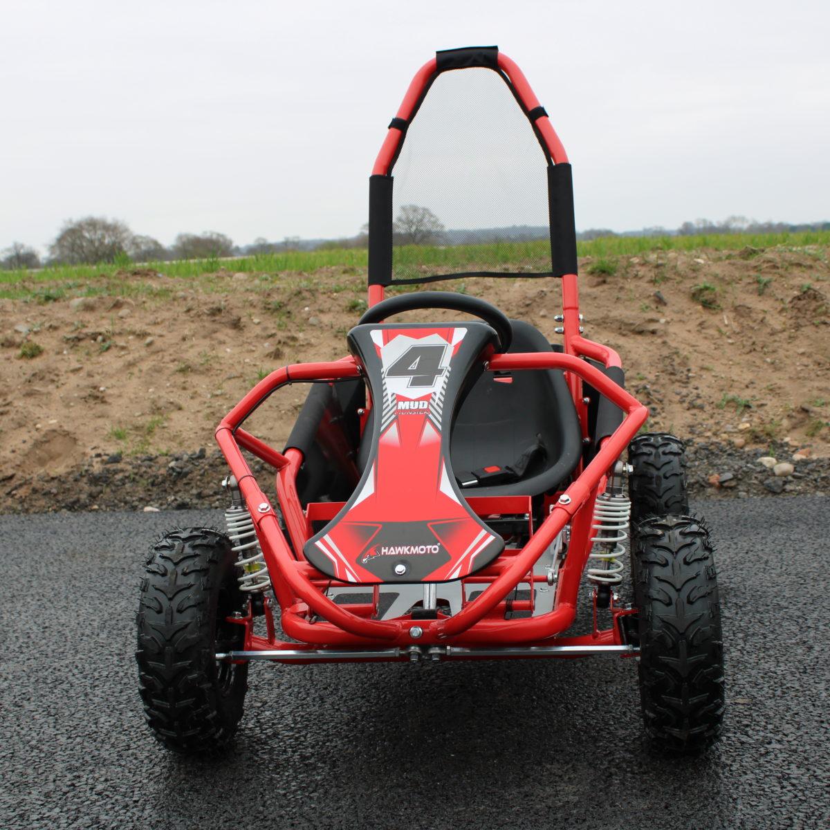 Hawkmoto Kids Buggy 98cc 4-stroke Petrol Utv Go Kart – Red