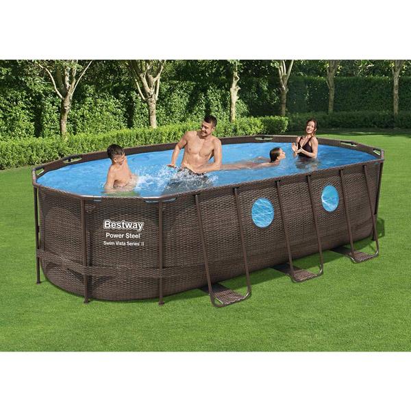 Bestway 56716 Steel Oval Swim Vista Pool
