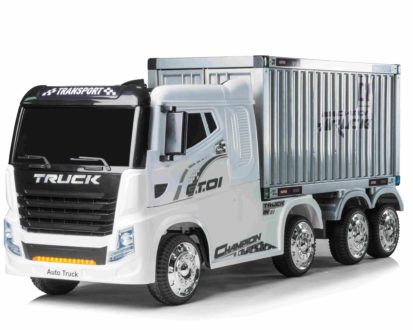 12v Container Truck Electric Ride On White