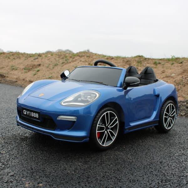 Kids 12v Electric Car Porsche 911 Style Metallic Blue