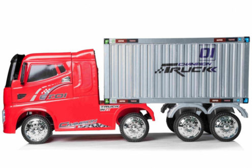 12v Kids Container Truck Electric Ride On Red