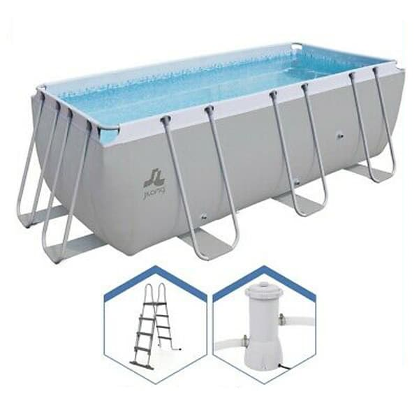 Avenli 17726 13ft 6 Outdoor Swimming Pool Grey With Pump And Ladder