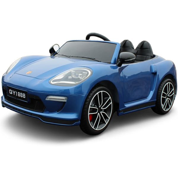 Kids 12v Electric Car Porsche 911 Style Metallic Blue