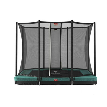 Berg Ultim Favorit Inground 280 Green Trampoline With Safety Net Comfort