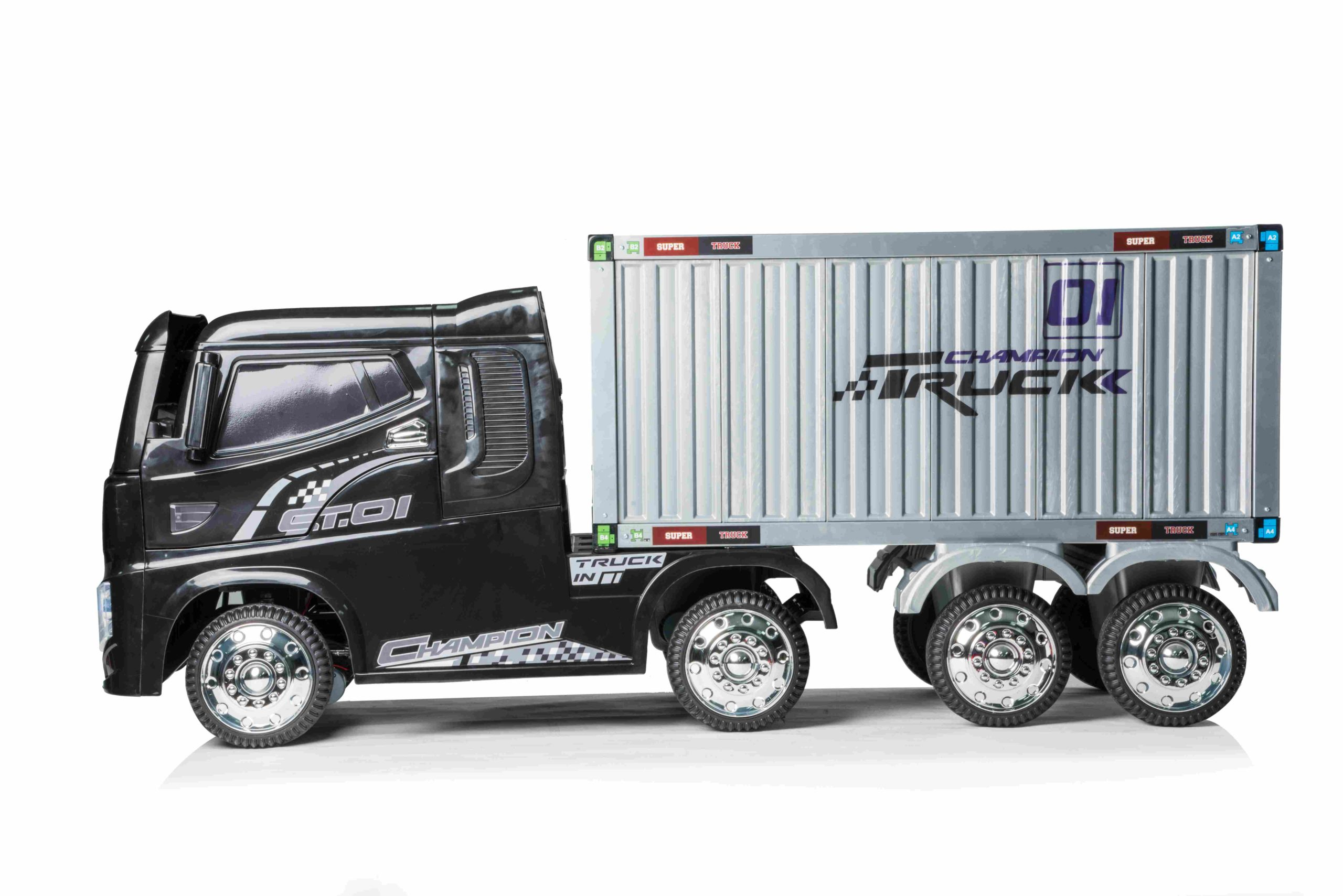 12v Container Truck Electric Ride On Black