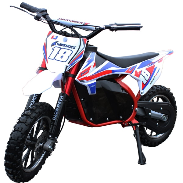 Hawkmoto 500w 36v Electric Mini Kids Dirt Bike – Red
