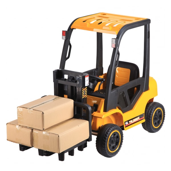 12v Kids Electric Ride On Forklift Truck Yellow