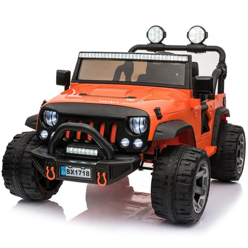 Kids Electric Off Rader Jeep 4wd With Led Lightbar And Spots
