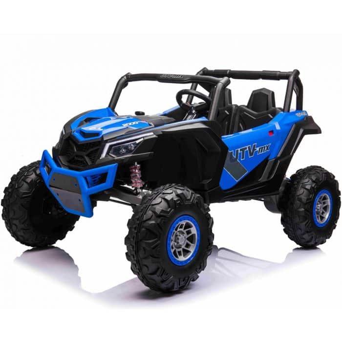 Utv-mx 2021 2 Seater 24v Kids Electric Ride On Buggy Blue