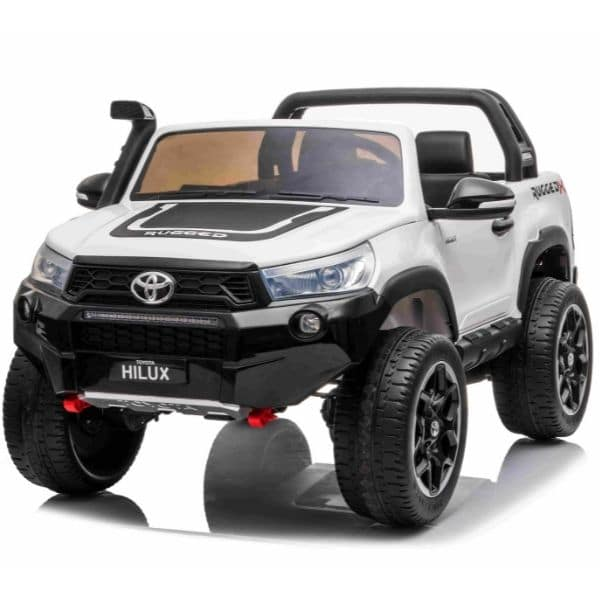 Licensed Toyota Hilux 24v* 4wd Kids Electric Jeep – White