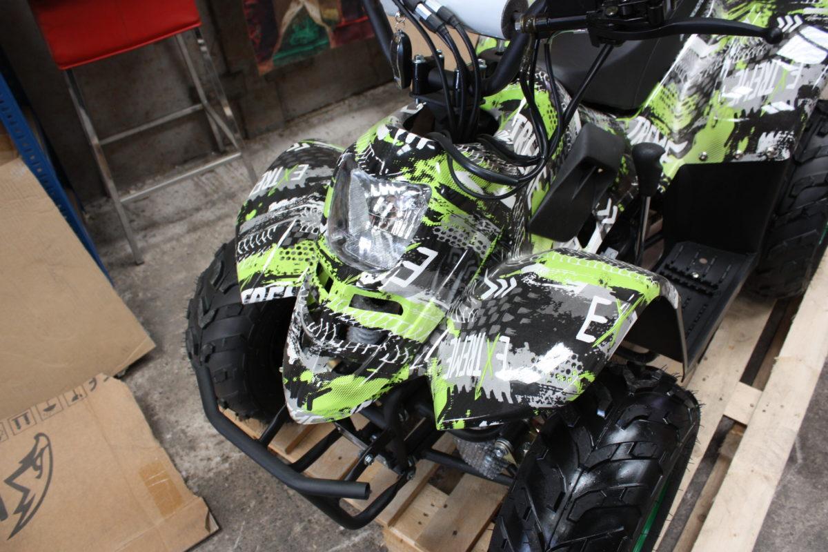 Hawkmoto Boulder Fun 110cc Kids Quad – Extreme Green