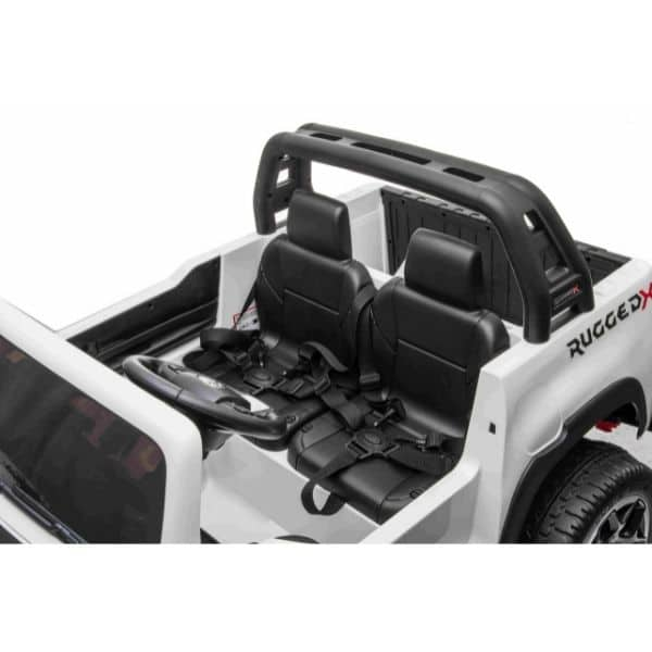 Kids 24v* Electric Toyota Hilux Ride On With 4wd – White