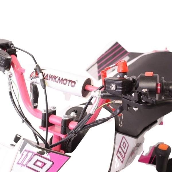 Hawkmoto Volkan Kids Fully Auto 110cc Quad Bike Pink