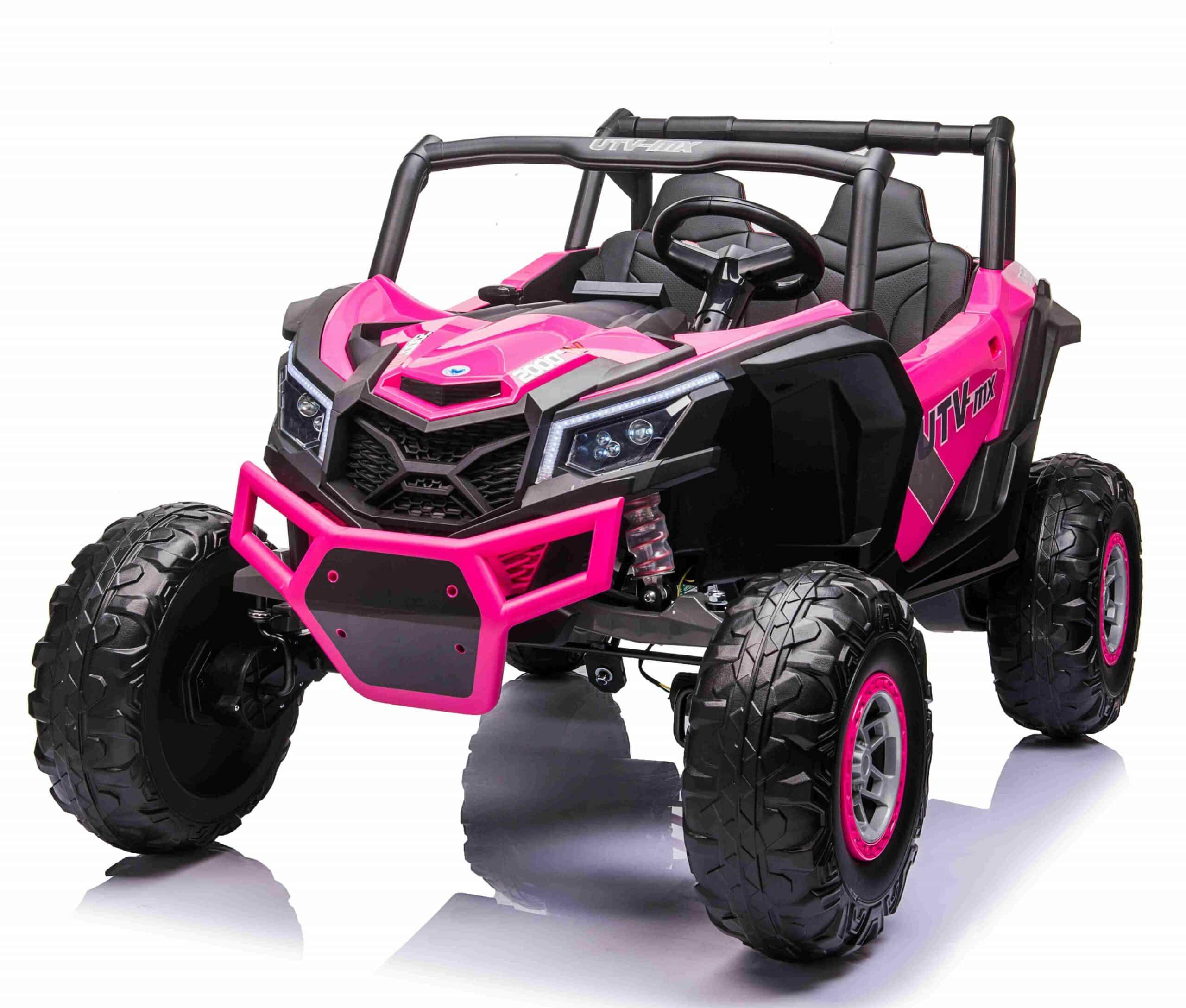 Utv-mx 2021 2 Seater 24v Kids Electric Ride On Bugy Rose Pink