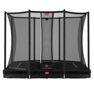 Berg Ultim Favorit Inground 280 Black Trampoline with Safety Net Comfort