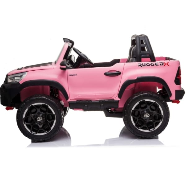 Kids 24v Electric Toyota Hilux Ride On With 4wd – Pink