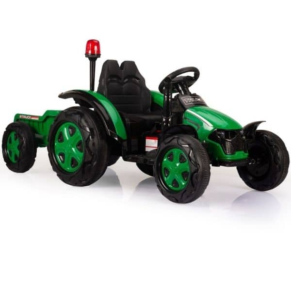 Electric-tractor-and-trailer-HZB-200-Green-2
