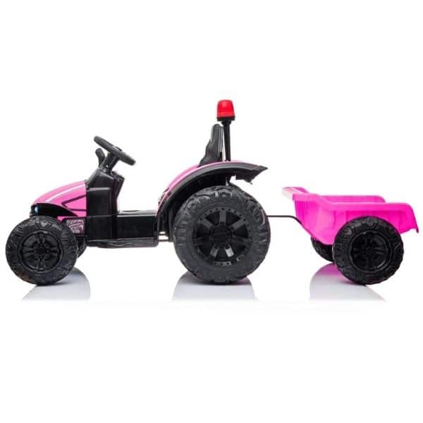 Electric-tractor-and-trailer-HZB-200-Pink-2