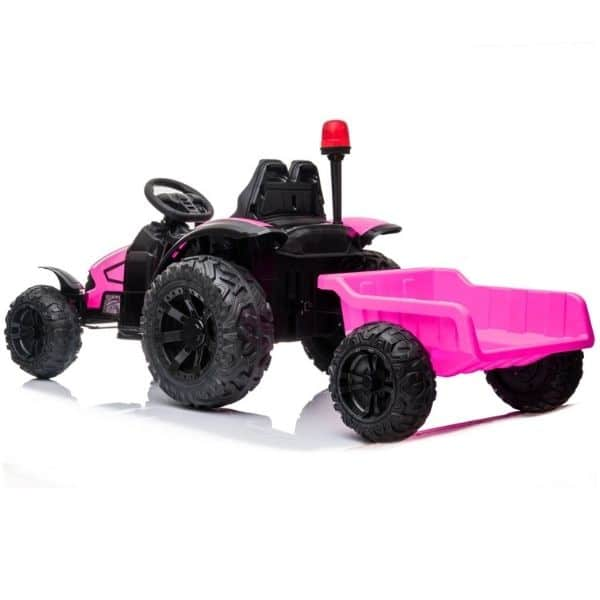 Electric-tractor-and-trailer-HZB-200-Pink-3