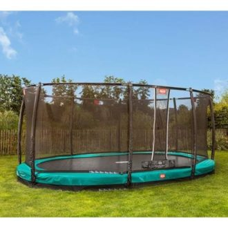 Berg Grand Champion Inground 520 Trampoline Green with Safety Net Deluxe