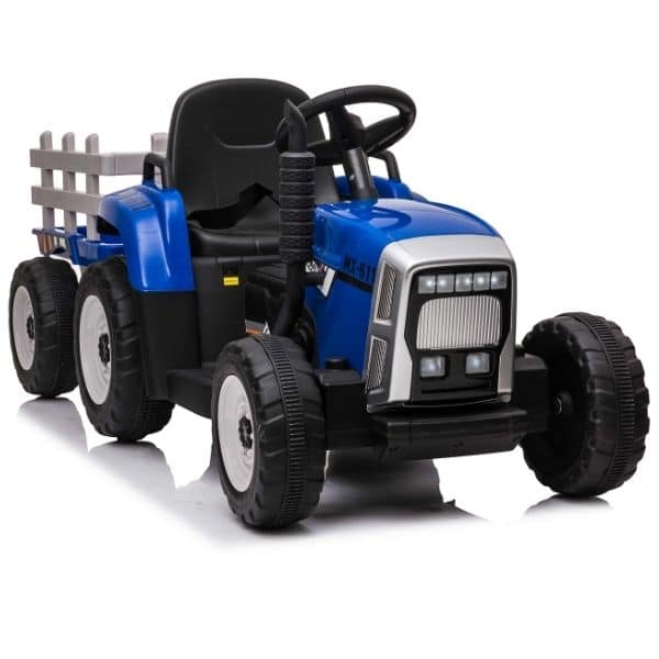 12V-Kids-Electric-Tractor-with-Trailer-and-Remote-Blue-1