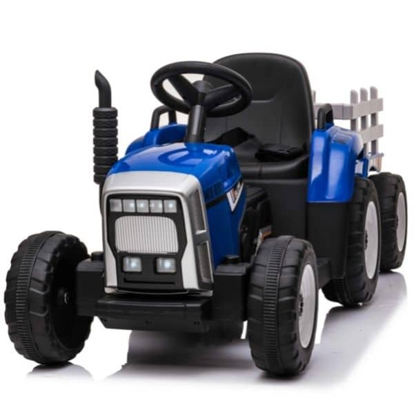 12V-Kids-Electric-Tractor-with-Trailer-and-Remote-Blue-3