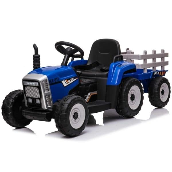 12V-Kids-Electric-Tractor-with-Trailer-and-Remote-Blue-4