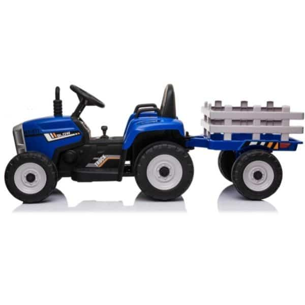 12V-Kids-Electric-Tractor-with-Trailer-and-Remote-Blue-5