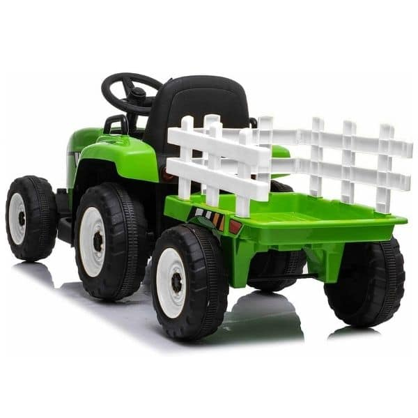 12V-Kids-Electric-Tractor-with-Trailer-and-Remote-Green-4