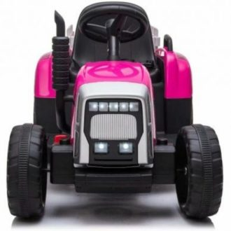 12V-Kids-Electric-Tractor-with-Trailer-and-Remote-Pink-10