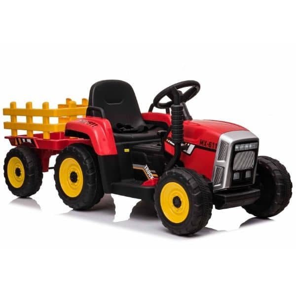 12V-Kids-Electric-Tractor-with-Trailer-and-Remote-Red-10