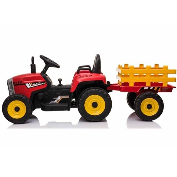 12V-Kids-Electric-Tractor-with-Trailer-and-Remote-Red-6