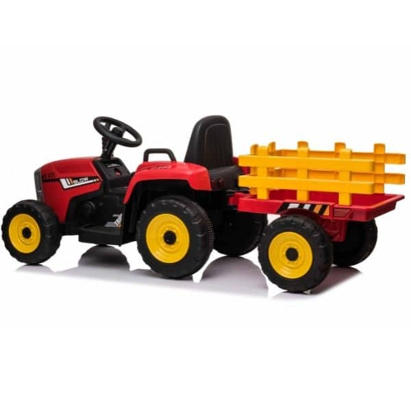 12V-Kids-Electric-Tractor-with-Trailer-and-Remote-Red-7