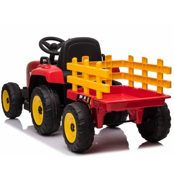 12V-Kids-Electric-Tractor-with-Trailer-and-Remote-Red-8