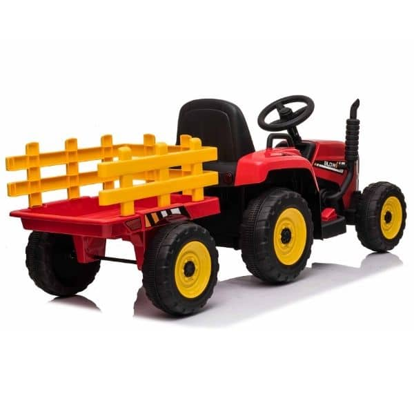 12V-Kids-Electric-Tractor-with-Trailer-and-Remote-Red-9